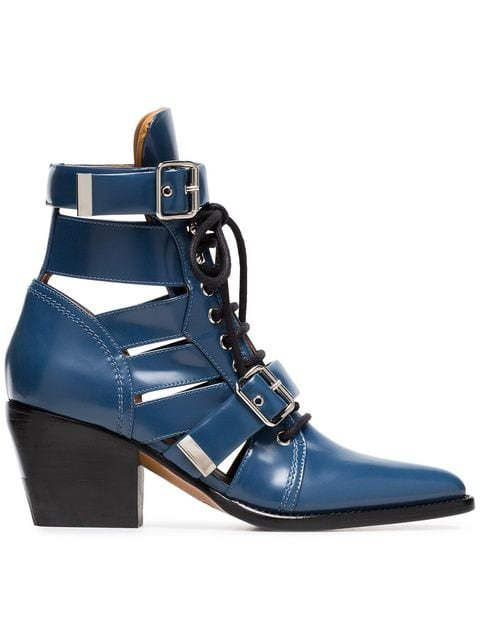 Chloé Rylee 60 Leather Ankle Boots - Farfetch