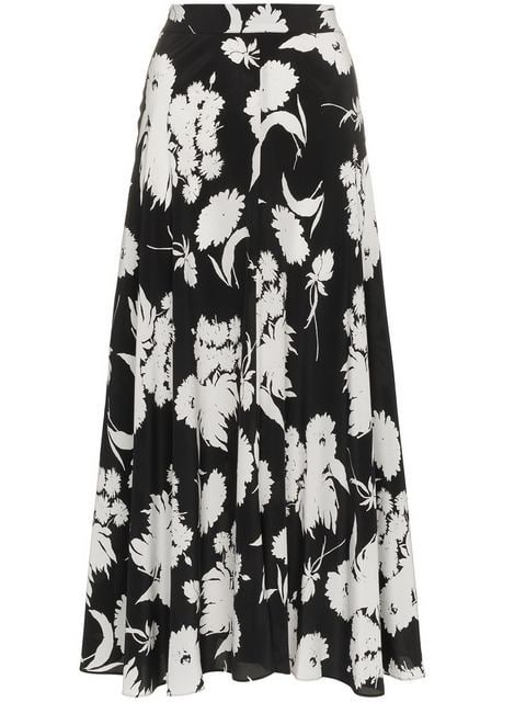Ganni Kochhar Floral Print Skirt - Farfetch