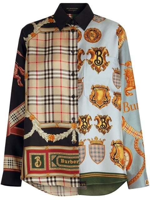 Burberry Archive Scarf Print Silk Shirt - Farfetch