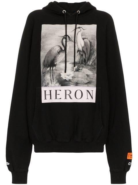Heron Preston Logo Cotton Hoodie - Farfetch