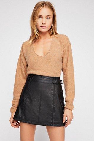 Charli Vegan A-Line Skirt