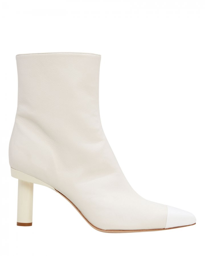Grant Ivory Leather Booties