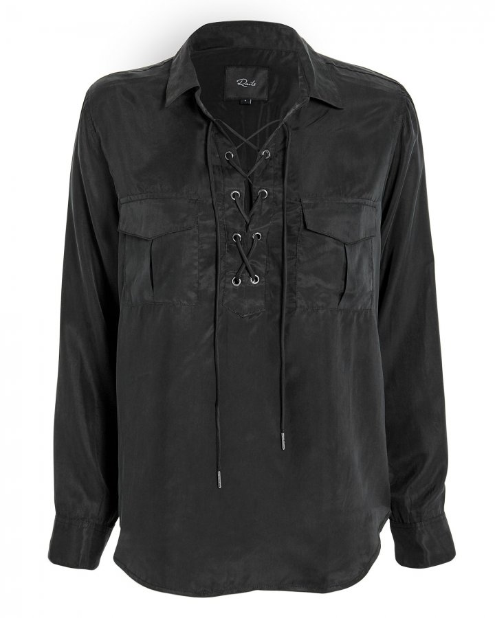 Bailey Lace-Up Blouse
