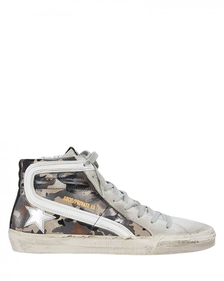 Slide Camo High-Top Sneakers