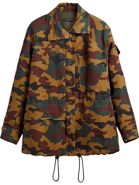Burberry Boyfriend Fit Camouflage Print Jacket - Farfetch