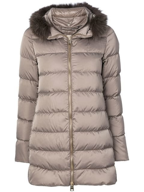 Herno Detachable Fur Collar Puffer Jacket - Farfetch