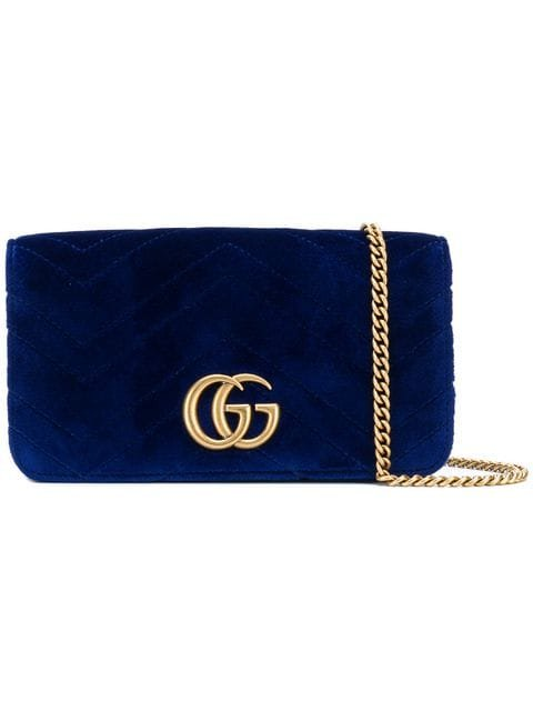 Gucci Chevron Textured Logo Clutch - Farfetch