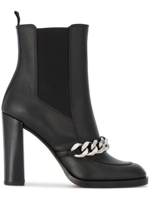 Givenchy Black Biker 105 Leather Ankle Boots - Farfetch