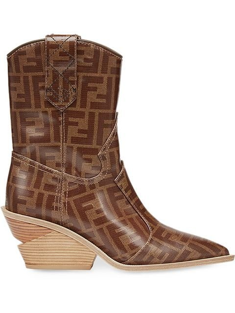 Fendi Pointed Toe Cowboy Booties - Farfetch