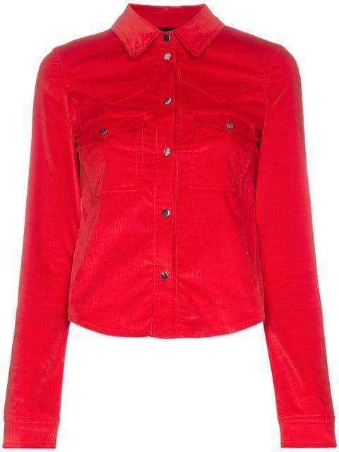 Filles A Papa Edwin Western Buttoned Cotton-Blend Shirt  - Farfetch