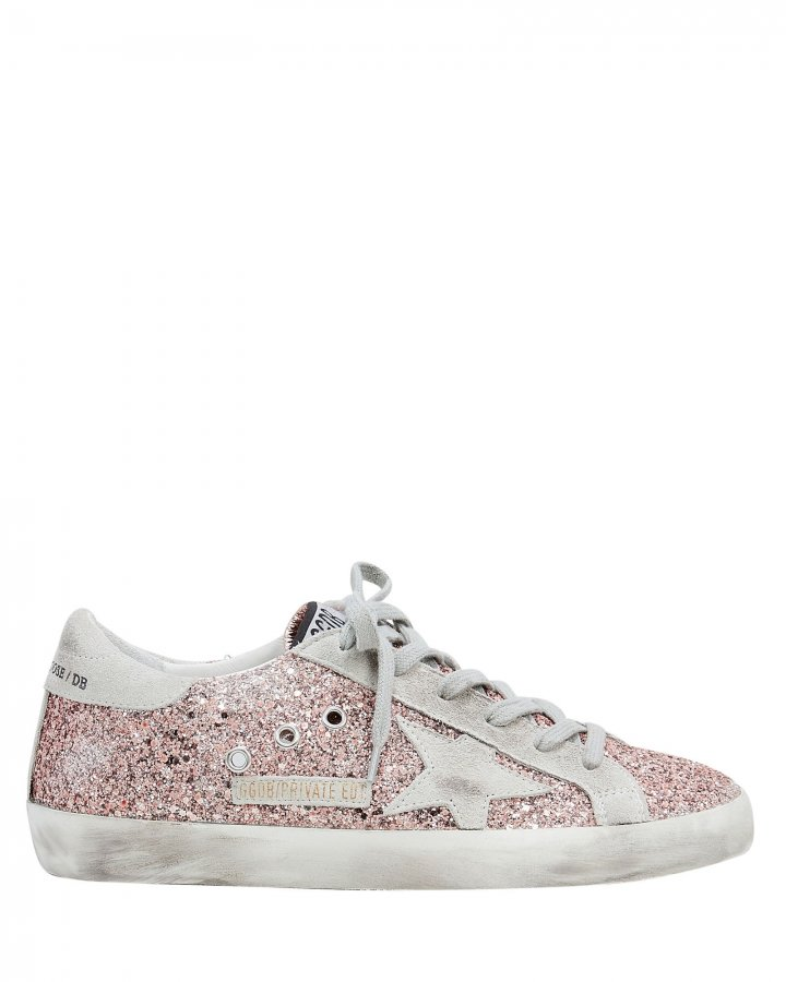 Superstar Rose Gold Glitter Low-Top Sneakers