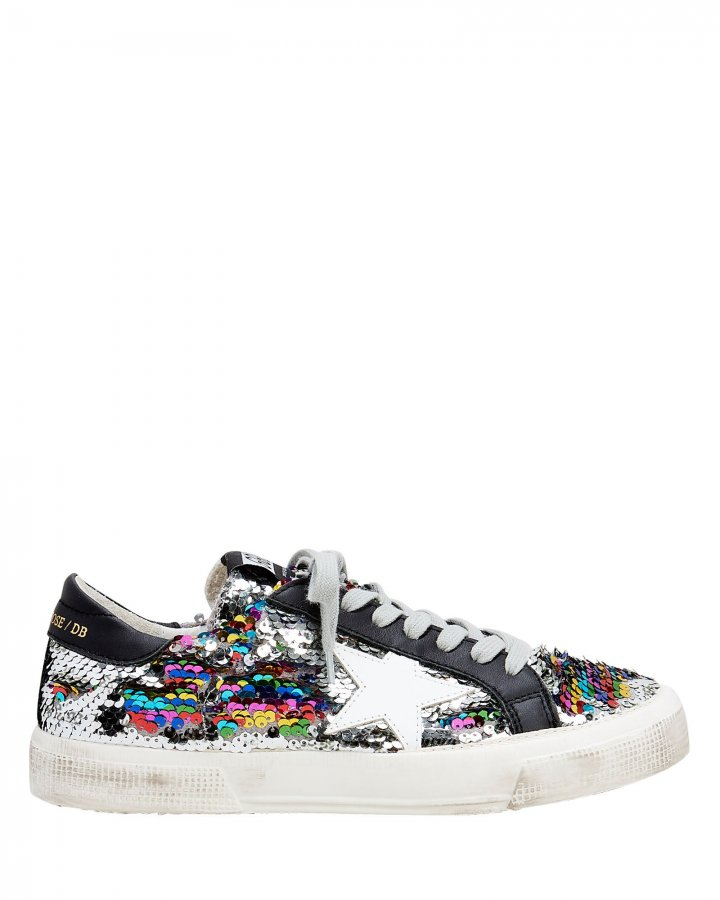 May Rainbow Sequin Low-Top Sneakers