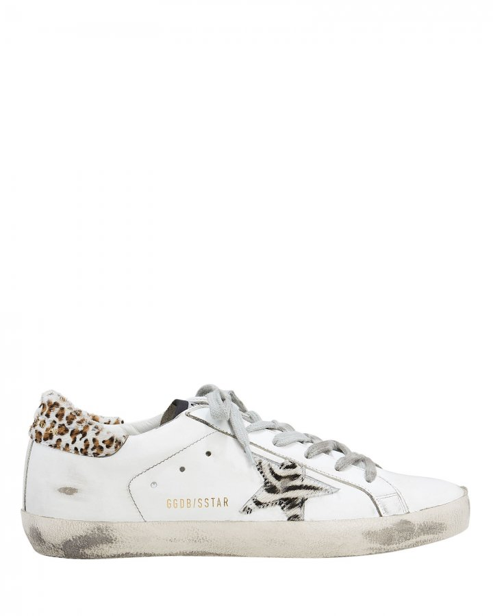 Superstar Zebra Star Low-Top Sneakers