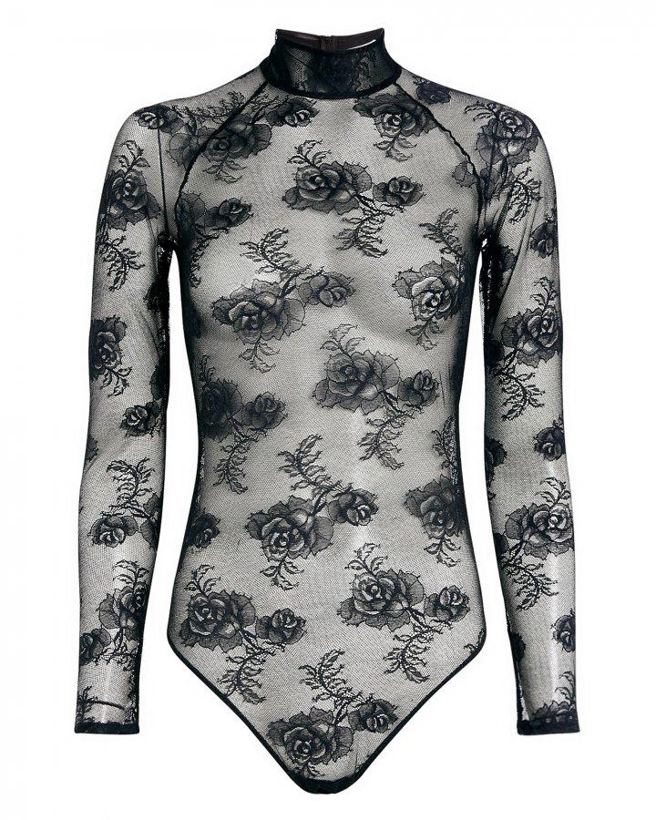 Bouquet Lace Turtleneck Bodysuit