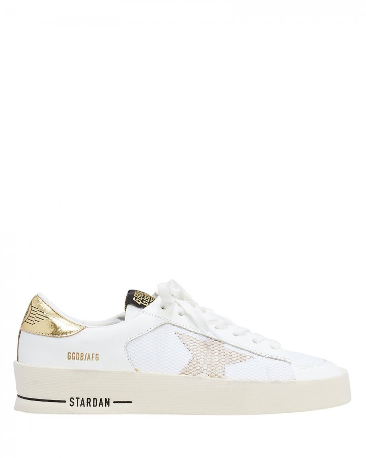 Star Dan White Leather Sneakers
