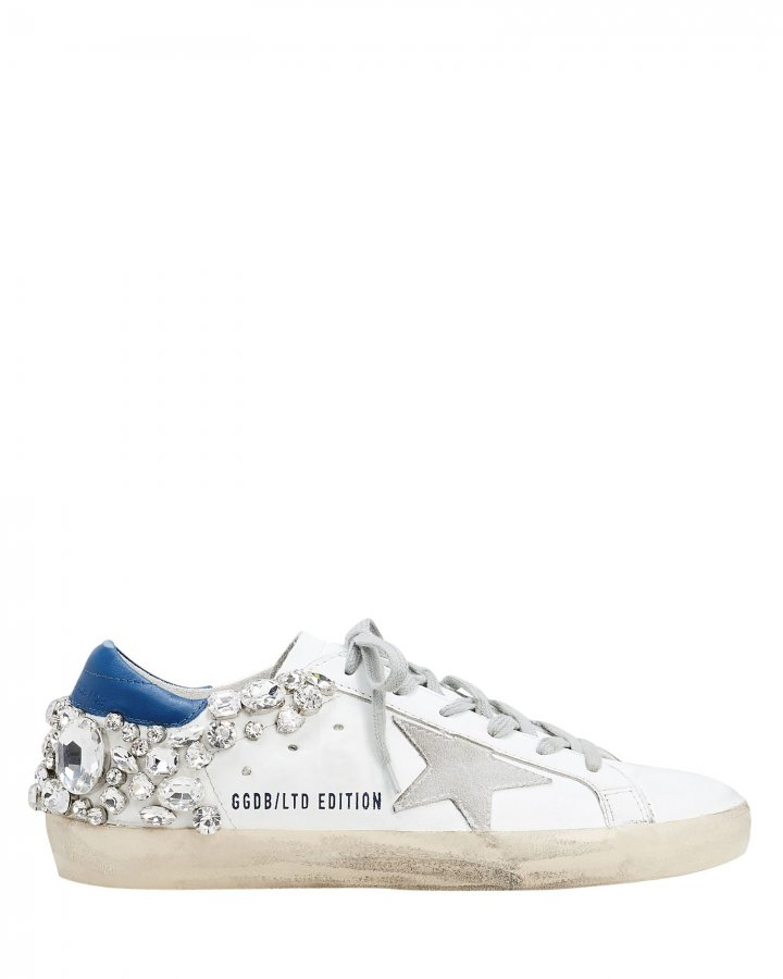Superstar Crystal Embellished Low-Top Sneakers
