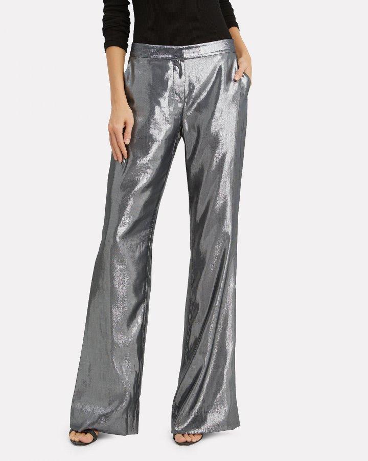 Silver Lamé Trousers