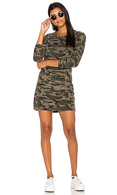Textured Camo Sweatshirt Dress                                             Bobi