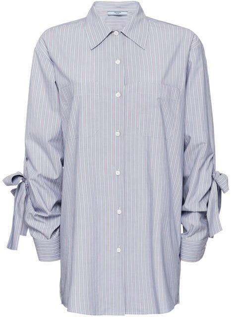 Prada Striped Chambray Shirt - Farfetch