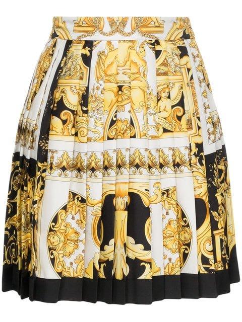 Versace Silk Barocco SS \'92 Print Skirt - Farfetch