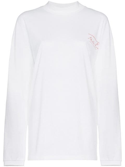 Martine Rose Oversized Logo Print Long Sleeved T-shirt - Farfetch