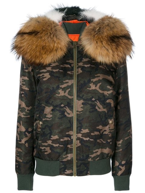 Mr & Mrs Italy Camouflage Hooded Bomber Jacket - Farfetch