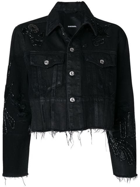 Diesel Sequin Embellished Denim Jacket - Farfetch