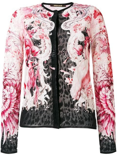 Roberto Cavalli Lace Fitted Jacket - Farfetch