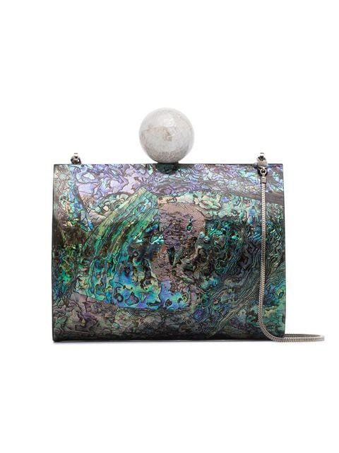 Nathalie Trad Multicoloured Lilly Shell Clutch With Pearl - Farfetch
