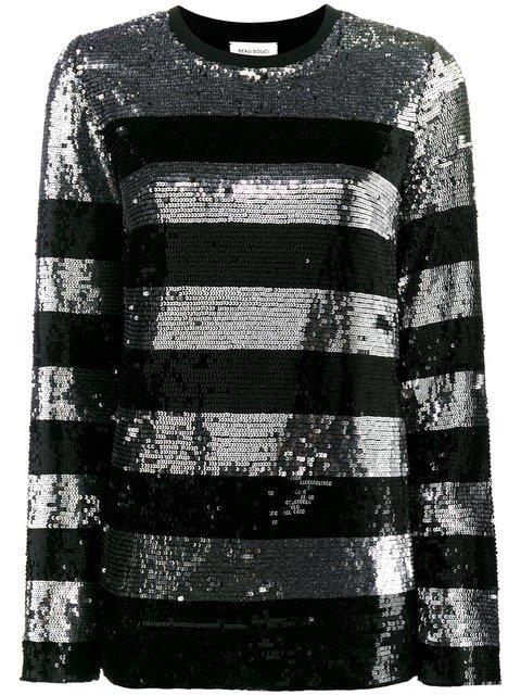 Beau Souci Metallic Striped Sequin Blouse - Farfetch