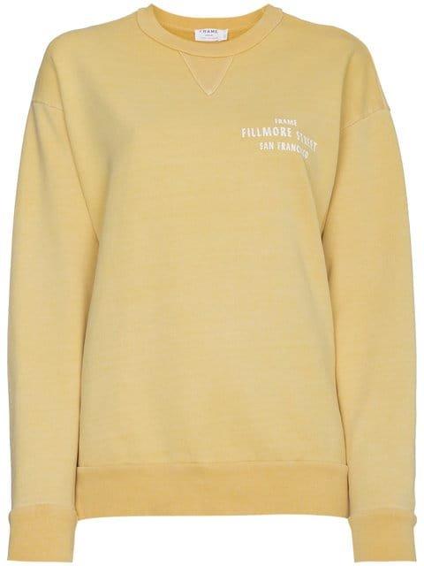 Frame Denim Vintage Logo Print Cotton Sweatshirt - Farfetch
