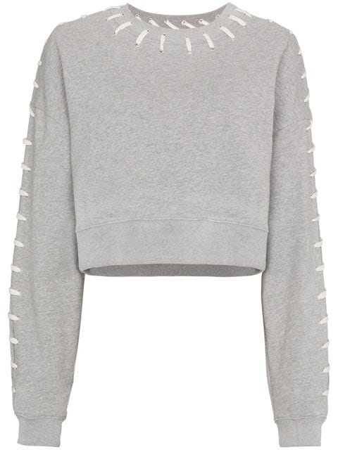 Jonathan Simkhai Cropped Stitched Sweatshirt - Farfetch