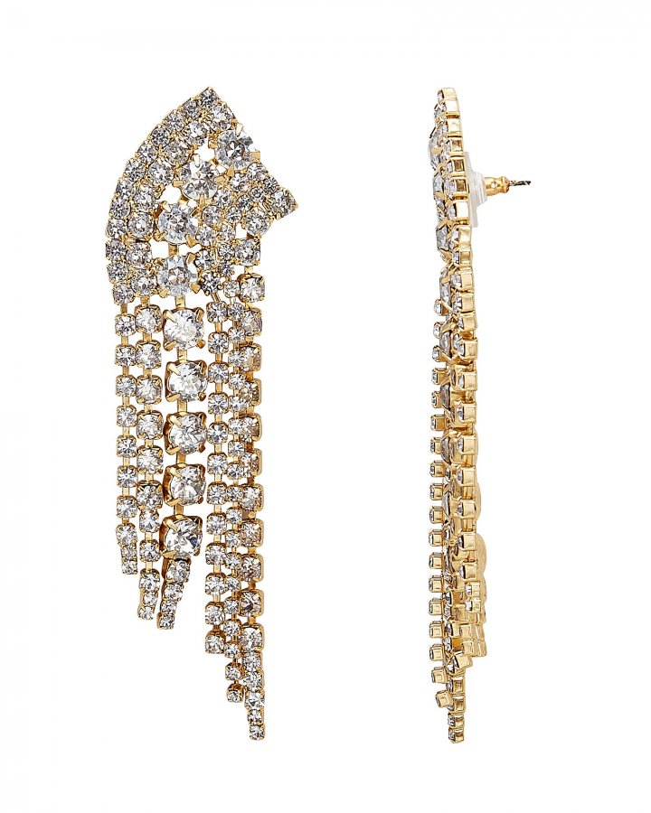 Fringed Crystal Earrings