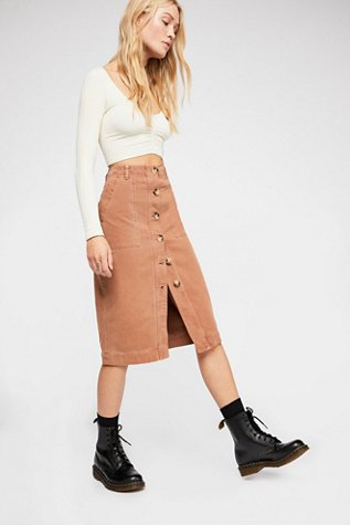 Mid-Length Utility Skirt