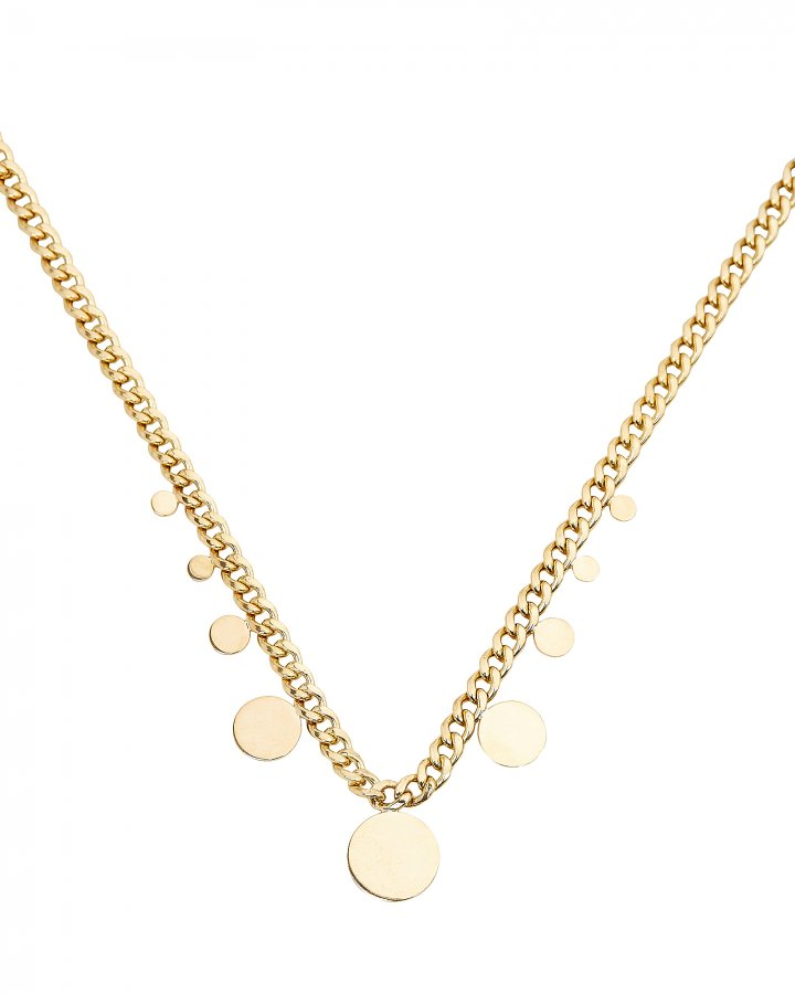 Disc Curb Chain Necklace