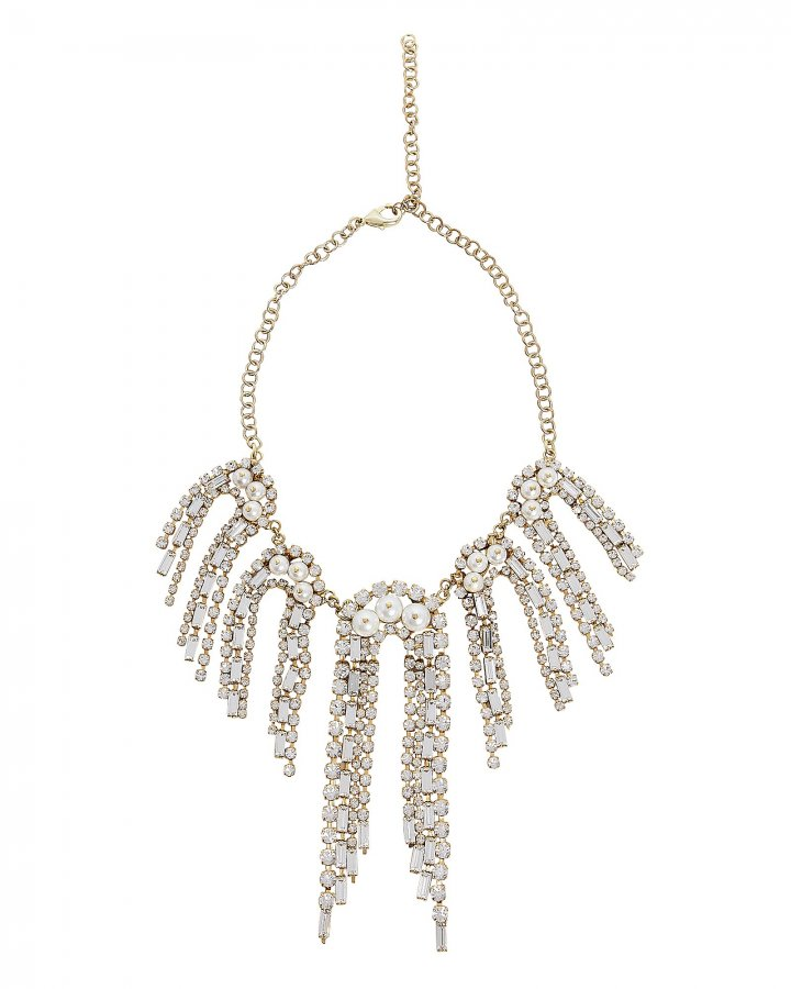 Gelo Pearl and Crystal Necklace