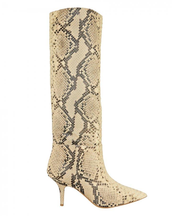 Snakeskin-Embossed Boots
