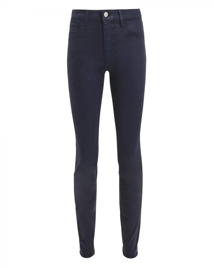 Marguerite Navy Coated Jeans