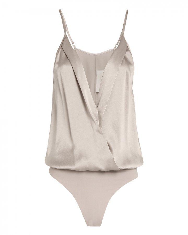 Silver Cami Wrap Bodysuit
