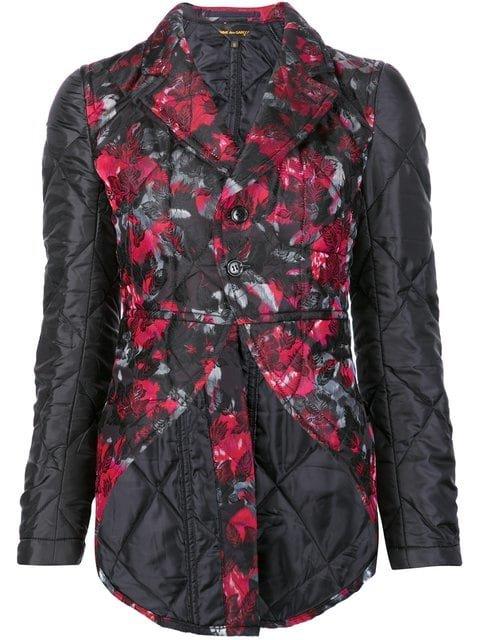 Comme Des Garçons Floral Quilted Jacket - Farfetch