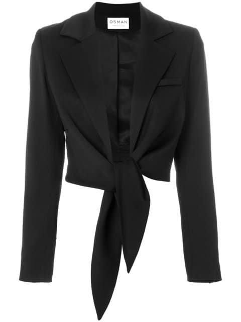 Osman Cropped Tie Waist Jacket - Farfetch