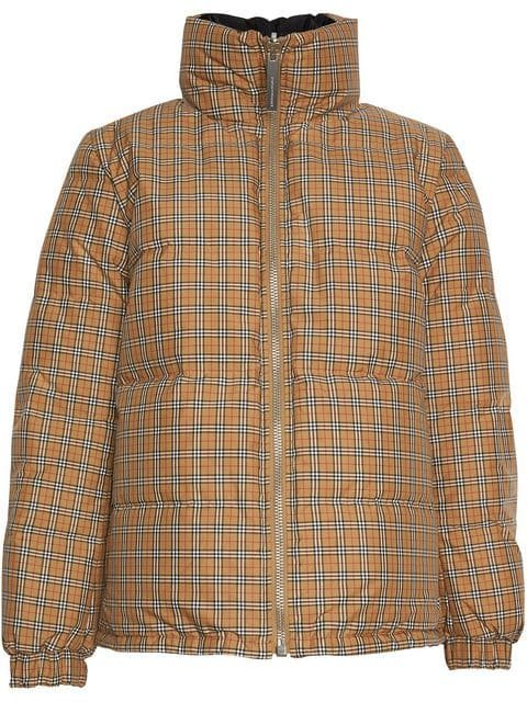 Burberry Vintage Check Reversible Puffer Jacket - Farfetch