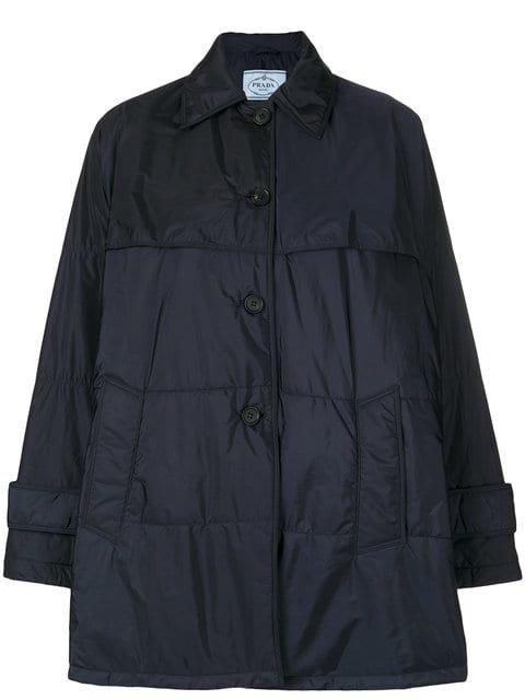 Prada Belted Puffer Jacket - Farfetch