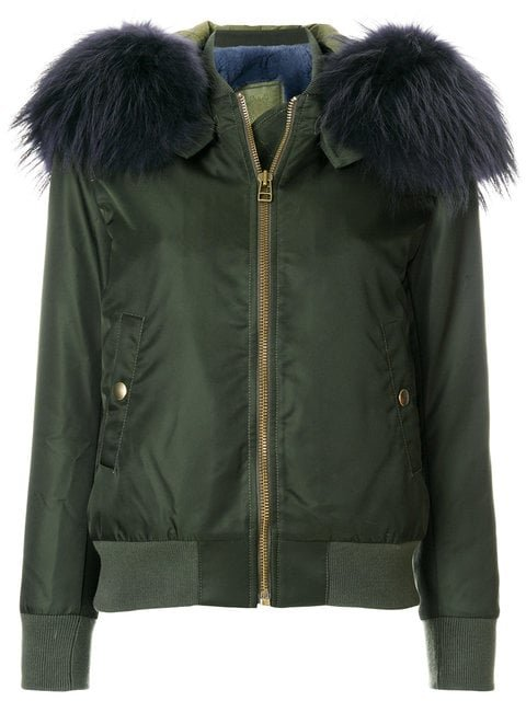 Mr & Mrs Italy Detachable Hood Bomber Jacket  - Farfetch