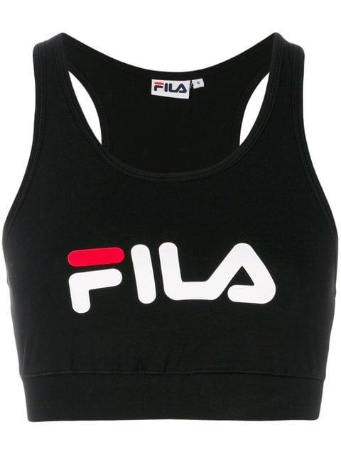 Fila Logo Sports Bra Top - Farfetch