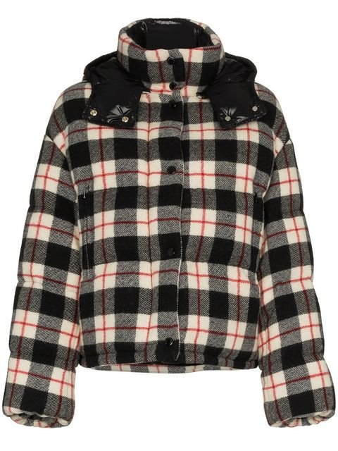 Moncler Caille Checked Down Jacket - Farfetch