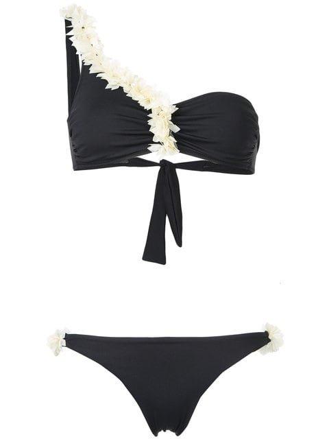 La Reveche Asymmetric Floral Bikini - Farfetch