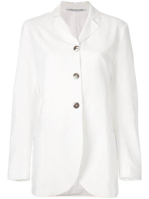 Cherevichkiotvichki Long Line Button Jacket - Farfetch