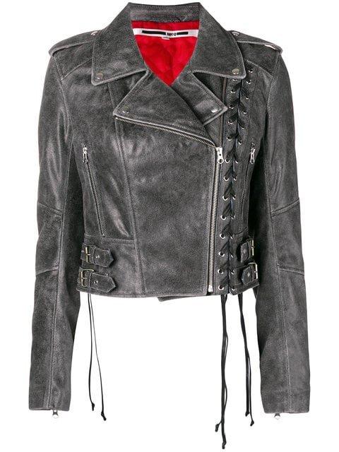 McQ Alexander McQueen Longsleeved Biker Cropped Jacket  - Farfetch