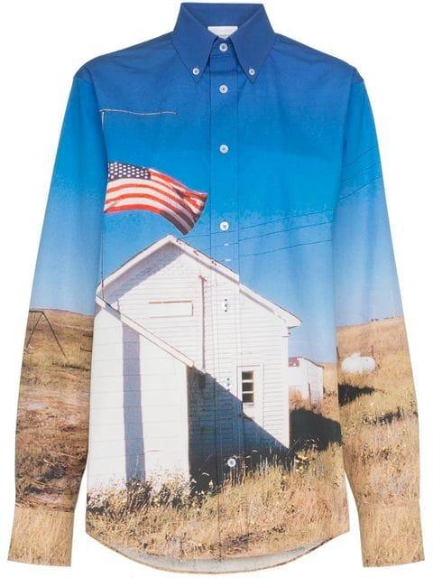 Calvin Klein Jeans Est. 1978 School Flag Print Shirt - Farfetch